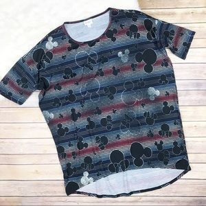 New Lularoe Mickey Mouse Minnie Print Irma Shirt